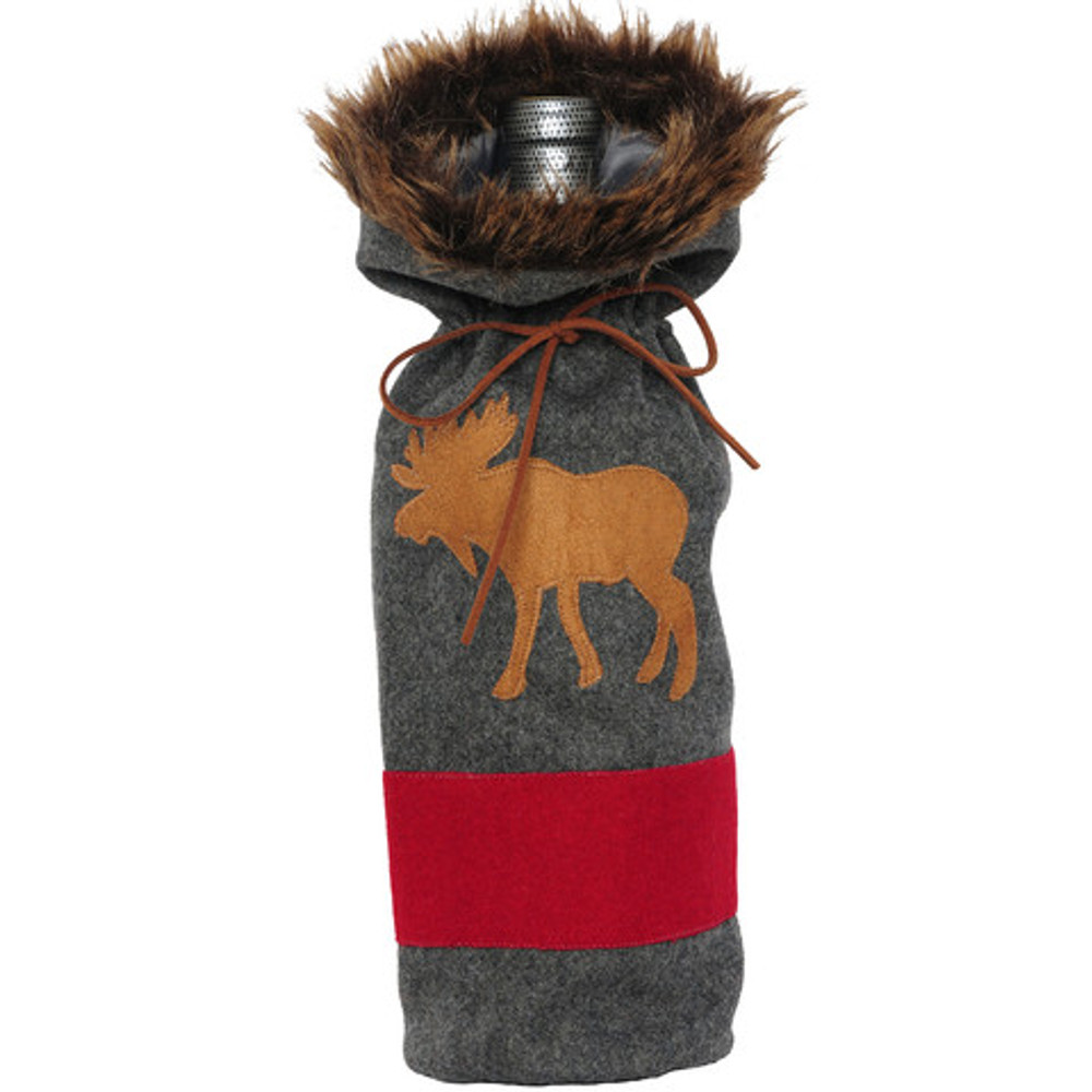 Bottle Cover, Grey Blanket Moose