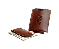Browning Brown Leather Money Clip