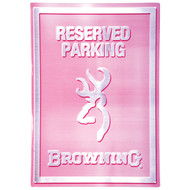 Browning Tin Sign, Reserved Parking, Pink