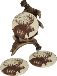 Rivers Edge Moose Coaster Set