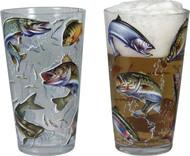 Rivers Edge Multi Fish Glasses, 4 pk Pint