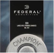 Federal Large Rifle Primers, No. 210, 100 pk