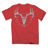 Browning Youth Galvanized SS Tee, Red