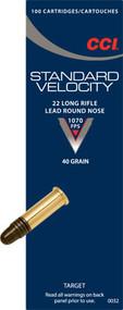 CCI Standard Velocity, 22 LR, 40 Gr RN, 50 ct