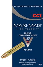 CCI Maxi-Mag, 22 WMR, 40 Gr TMJ, 50 ct