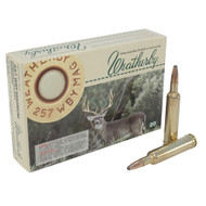 Weatherby Ammo, 257 Wby Mag, 100 Gr Spitzer