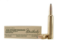 Weatherby Ammo, 338-378 Wby Mag, 250 Gr, NP