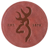 Browning Faux Leather Buckmark Coasters, 4 pk