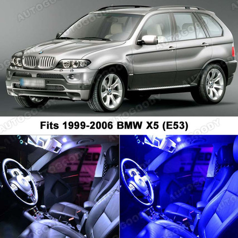 Premium LED Lights Interior Package Upgrade for BMW X5 1999-2006 ...