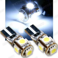 T10 Error Free LED Bulbs with Built-in Load Resistors 5-SMD
