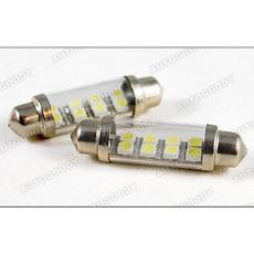 41mm White Festoon LED Bulbs 8-SMD