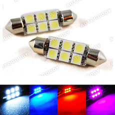 "1.5"" 36mm Festoon LED Bulbs 6-SMD 6411 6413 6418 DE3425 DE3423"