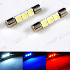 "1.2"" LED Bulbs 3-SMD for Sun Visor Vanity Mirror Lights"