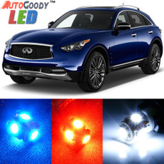 Premium Interior LED Lights Package Upgrade for Infiniti FX35 FX37 FX50 QX70 (2009-2017)
