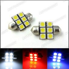 "1.25"" 31mm Festoon LED Bulbs 6-SMD 3022 3175 DE3175"