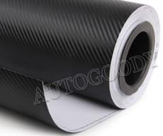 3D Black Carbon Fiber Vinyl Wrap Bubble Free Air Release