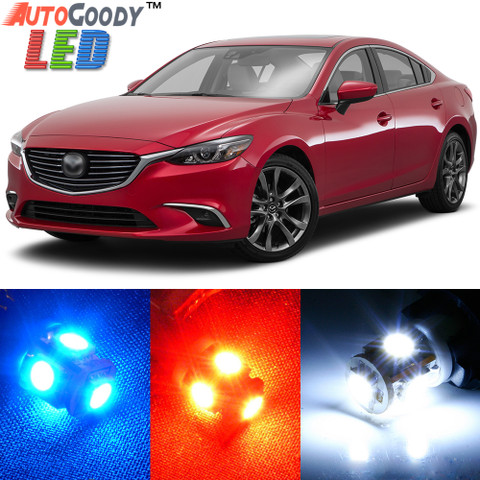 premium interior led lights package upgrade for mazda 6. Black Bedroom Furniture Sets. Home Design Ideas