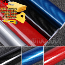 5D Premium HIGH GLOSS Carbon Fiber Vinyl Film Wrap Bubble Free Air Release