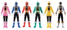 Power Rangers Super Megaforce Gokaiger Vinyl figures Set of 7