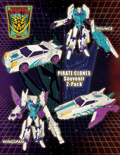 Transformers Bot Con 2014 Exclusive Pirates vs Knights Knights 2 pack Pounce and Wingspan