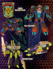 Transformers Bot Con 2014 Exclusive Pirates vs Knights Pirates 2 pack Hunter and Brimstone