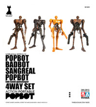 ThreeA Ashley Wood Popbot 4 pack  1/12 Scale Badbot Sangreal