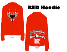 Power Morphicon 2014 Convention Hoodie Large Mighty Morphin Power Rangers Red Ranger