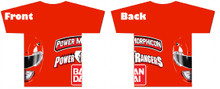 Power Morphicon 2014 Convention T-shirt 3x Large Mighty Morphin Power Rangers Red Ranger