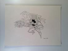 Batman the Animated Series Original Art Mission Masters Anti-Blaze Batman Hasbro 1990s
