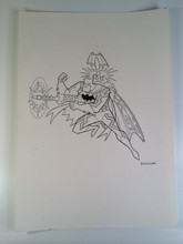 Batman the Animated Series Original Art Mission Masters Desert Attack Batman Hasbro 1990s