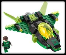 Lego Super Heroes - Green Lantern Minifigure & Jet (Loose)