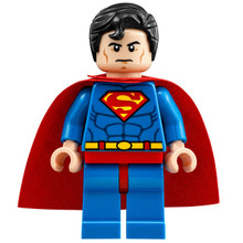 Lego Superman minifigure.
