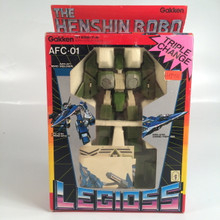 Henshin Robo Legioss Alpha Fighter Green AFC-01 Robotech Gakken Small version