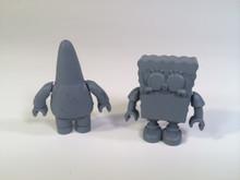 Megabloks Sponge Bob Squarepants and Patrick prototypes output and resin