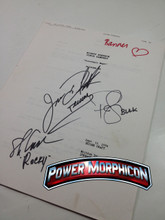 Original Mighty Morphin Power Rangers Signed Script Episode 90 Jason David Frank Steve Cardenas Paul Schrier
