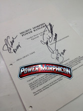 Original Mighty Morphin Power Rangers Signed Script Episode 138 Jason David Frank Steve Cardenas Paul Schrier