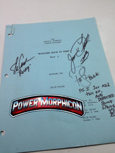 Original Mighty Morphin Power Rangers Signed Script Episode 92 Jason David Frank Steve Cardenas Paul Schrier