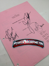 Original Mighty Morphin Power Rangers Signed Script Episode 91Pink Jason David Frank Steve Cardenas Paul Schrier
