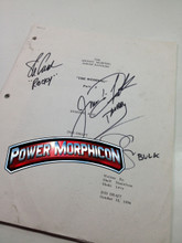 Original Mighty Morphin Power Rangers Signed Script Episode 103 Jason David Frank Steve Cardenas Paul Schrier