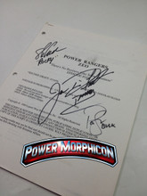 Original Power Rangers Zeo Signed Script Episode 169 Jason David Frank Steve Cardenas Paul Schrier