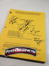 Original Power Rangers Turbo the Movie Signed Script Jason David Frank Steve Cardenas Paul Schrier