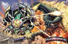 Power Morphicon 2016 Dragonzord VS Godzilla Convention Print