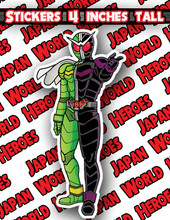 Japan World Heroes Sticker Kamen Rider Double