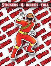 Copy of Japan World Heroes Sticker Gaoranger Red