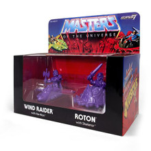 MOTU M.U.S.C.L.E. Wind Raider and Roton - Purple SDCC 2017 Skeletor's Lair