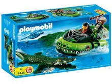 Playmobil 4446 Aligator Hunter Adventure 58 Piece Playset