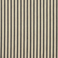 French Country Black Ticking Stripe Gathered Bedskirt