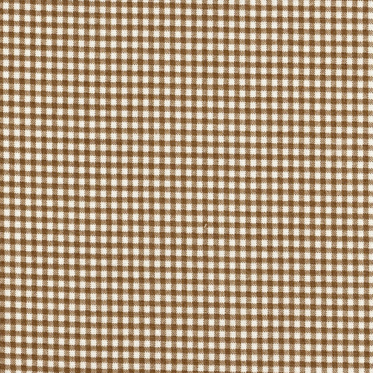 French Country Suede Brown Gingham Tailored Bedskirt