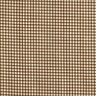 French Country Suede Brown Gingham Gathered Bedskirt