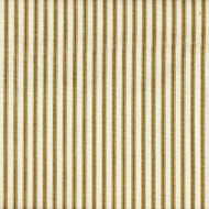 French Country Chartreuse Ticking Stripe Gathered Bedskirt